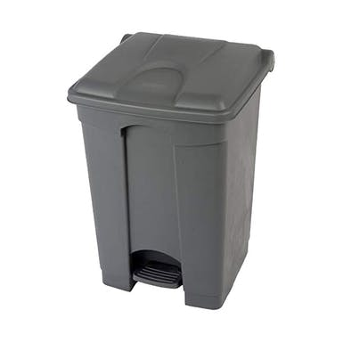 45 Litre Step-On Grey Pedal Bin