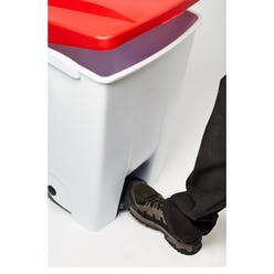 60 Litre Mobile Pedal Recycling Bin