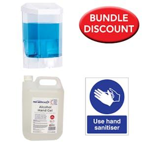 PBH Alcohol Sanitiser Bundle with Manual Dispenser