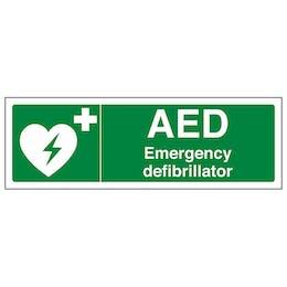 AED Emergency Defibrillator- Landscape