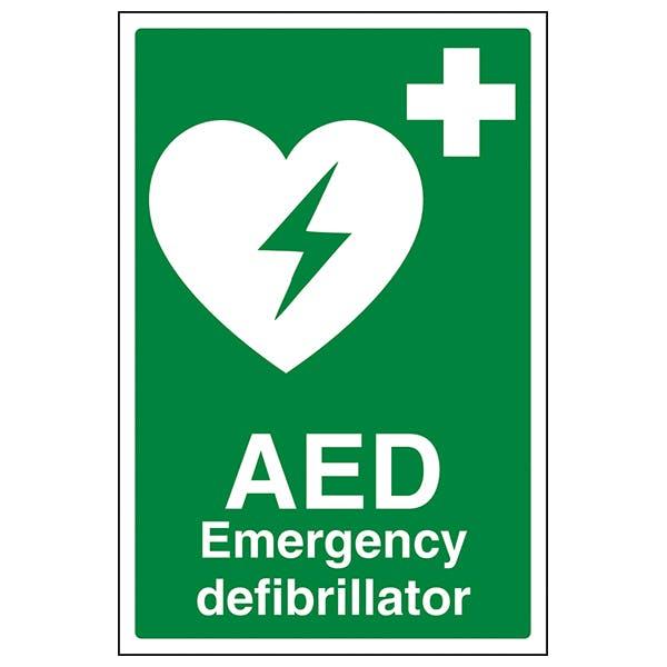 AED Emergency Defibrillator- Portrait