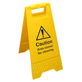 Caution Area Closed For Cleaning