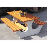 Anchorfast Concrete & Timber Picnic Bench