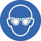 Anti Slip Floor Sign: Eye Protection Logo - 400mm