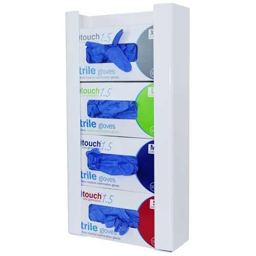 Antimicrobial Quad Glove Box Dispenser