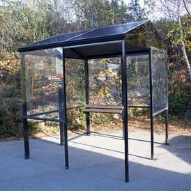 Apex 4-Sided Smoking Shelter - Aluminium Roof
