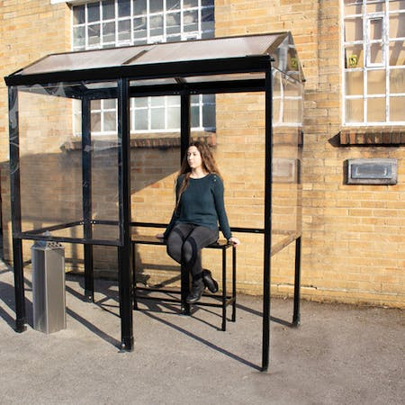 Apex 4-Sided Smoking Shelter - Clear Roof