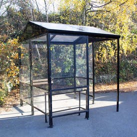 Apex 4-Sided Waiting Shelter - Clear Roof