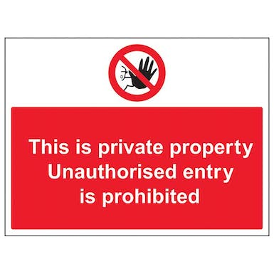 Unauthorised Persons Prohibited