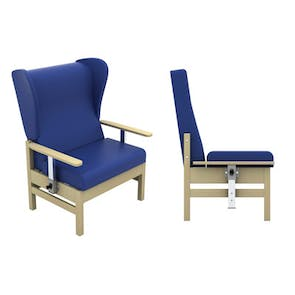 Atlas High Back 40st Bariatric Chair with Wings and Drop Arms