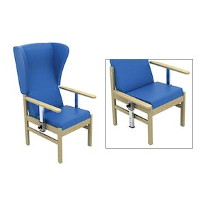 Atlas Patient High Back Chair with Wings & Drop Arms
