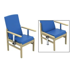 Atlas Patient Mid-Back Chair - Drop Arms