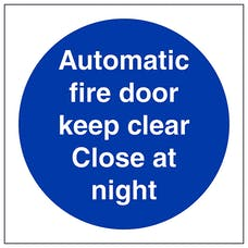 Automatic Fire Door Close At Night