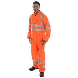 Beeswift Super B-Dri Breathable Hi-Vis Coverall