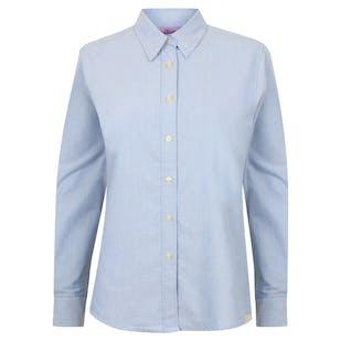 Henbury Women's Classic Long Sleeve Oxford Shirt