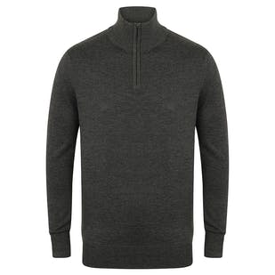 Henbury 1/4 Zip Jumper