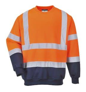 Portwest Two Tone Hi-Vis Sweatshirt