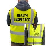 Value Hi-Vis Vest - Health Inspector