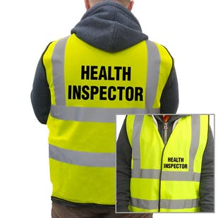Value Hi-Vis Vest - Health Inspector