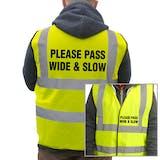 Value Hi-Vis Vest - Please Pass Wide & Slow