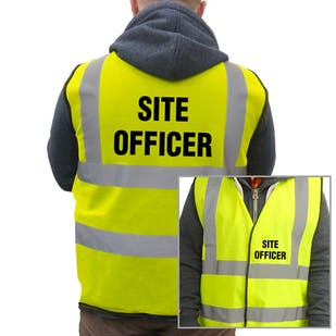 Value Hi-Vis Vest - Site Officer