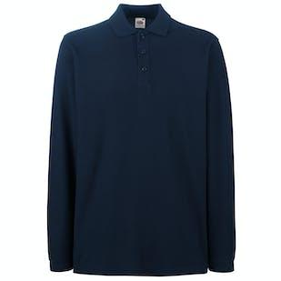 Fruit of The Loom Premium Long Sleeve Polo Shirt