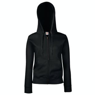 Fruit of The Loom Ladies Premium 70/30 Hooded Sweatshirt Jacket