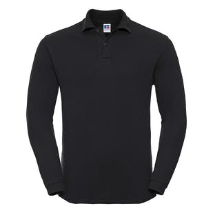 Russell Long Sleeve Classic Cotton Polo Shirt