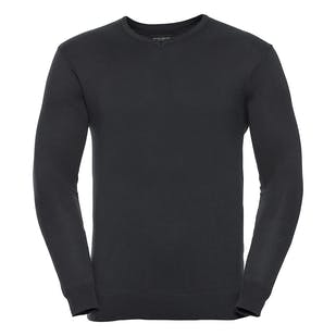Russell V-Neck Fitted Sweatshirt