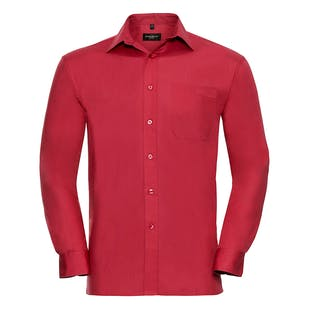 Russell Long Sleeve Pure Cotton Easycare Poplin Shirt