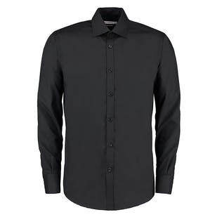 Kustom Kit Slim Fit Long Sleeve Business Shirt