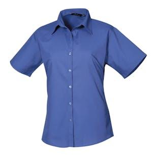 Premier Women's Short Sleeve Poplin Blouse