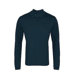 Premier Long Sleeve Coolchecker Pique Polo Shirt