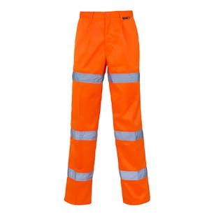 Supertouch 3 Band Hi-Vis Polycotton Trousers