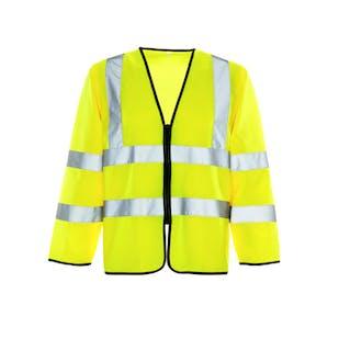 Supertouch Long Sleeve Zipped Hi-Vis Vest