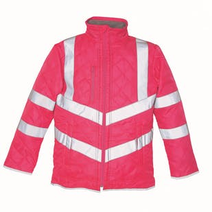 Yoko Hi-Vis Kensington Fleece Lined Jacket