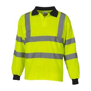 Yoko Long Sleeve Hi-Vis Polo Shirt
