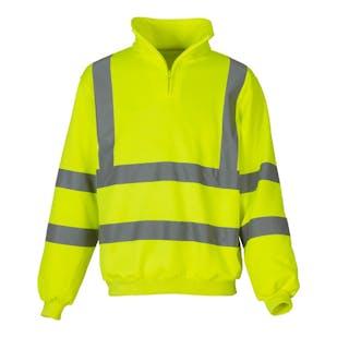 Yoko 1/4 Zip Hi-Vis Sweatshirt