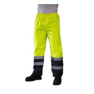 Yoko Two-Tone Hi-Vis Waterproof Over Trousers