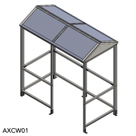 Apex 4-Sided Waiting Shelter - Aluminium Roof