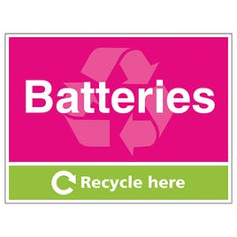 Batteries Recycle Here