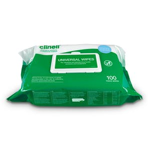 Clinell Universal Antimicrobial Hand & Surface Wipes