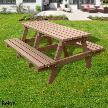 Standard Picnic Table - Solid Colour