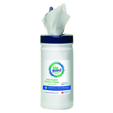 Bioguard 70% Alcohol Hand & Surface Wipes