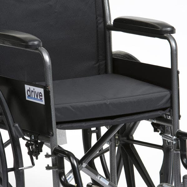 Black Canvas Wheelchair Cushion