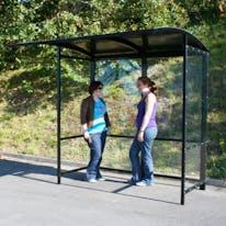 Steel Full-Frame Open Front Smoking Shelter - Aluminum Roof