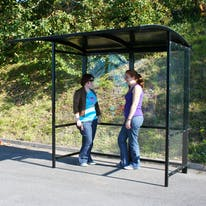 Steel Full-Frame Open Front Smoking Shelter - Aluminum Roof