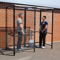 Steel Full-Frame 4-Sided Smoking Shelter - Clear Roof