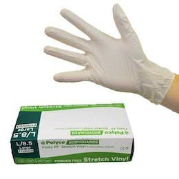 Bodyguards Powder Free Finity Stretch Vinyl Synthetic Gloves
