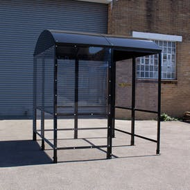 Domed 4-Sided Waiting Shelter - Aluminium Roof
